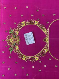 Best Blouse Designs, Wedding Saree Blouse Designs, Simple Blouse Designs, Blouse Neck Designs, Magam Work Blouses, Maggam Work Designs, Hand Work Blouse Design, Hand Embroidery Designs, Hand Designs
