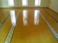 Living Room Partition Design, Living Room Tv Unit Designs, Room Partition Designs, Home Tiles Design, Floor Design, House Design, Chettinad House, House Tiles, Indian Home Decor