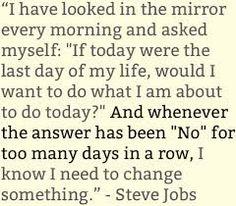 steve jobs every morning i asked myself - Google keresés