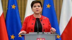 Premier Beata Szydło podczas konferencji prasowej w trakcie Ogólnopolskiego Noworocznego Spotkania Samorządów