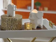Jonathan Adler, Partylite, Place Cards, Place Card Holders, Candles, Shopping, Interiors, Candle Holders, Hang In There