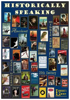 'Historically Speaking' Book Poster. Historical fiction for teens.