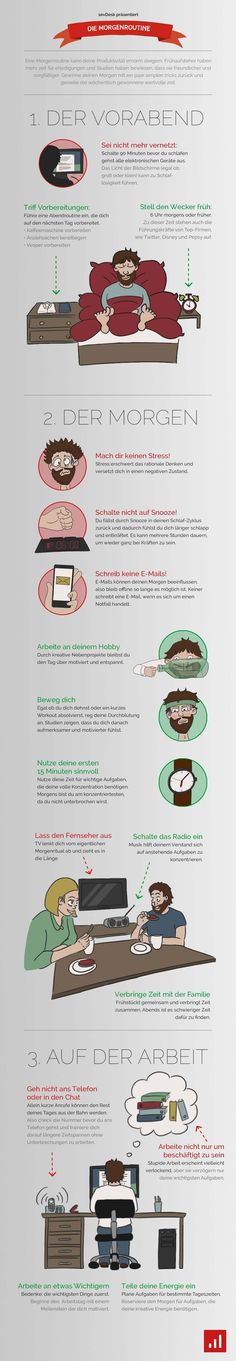 Morgenroutine Infografik DOs and DONTs