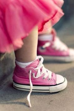 Itty-bitty pink converse.