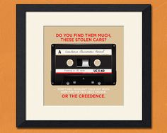 Hey, I found this really awesome Etsy listing at https://www.etsy.com/listing/79492708/the-big-lebowski-creedence-tape-art