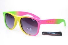 1ecd71c3dae Oakley Frogskins Sunglasses Pink Yellow Green Frame Grey Lens is on sale