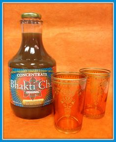 Our 2013 Holiday Gift Set includes two quarts of your favorite flavor of Bhakti plus two hand-painted hot tea glasses for just $38.