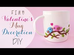 Tuto: S. valentino tazza decorata in fimo - DIY valentine's fimo decorated mug - YouTube