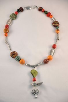 Entry by Anja Schiller. Anja used the Dorabeth Bird Charm and 3 Branches making this unique necklace.