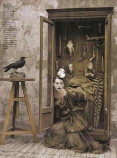 """""""Evoluzione Della Specie""""   Model: Kemp Muhl, Photographer: Ruven Afanador, Elle Italia, November 2008"""