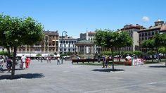 Plaza del Castillo Pamplona, Plaza, Street View, Camino De Santiago, Monuments, Castles, Scenery