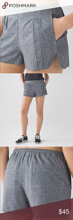 &Go Endeavor Short Brand new shorts! Can't return because I bought them on final sale. Just not for me. Brand new! Tags are still on! Zippers on back pockets. PRICE FIRM lululemon athletica Shorts