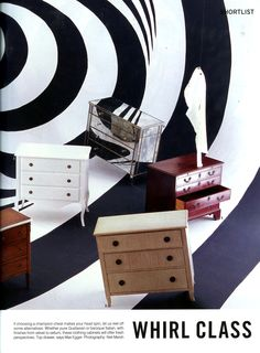 Chest of drawers shoot, featuring Simon Horn's mirrored Valentino chest simonhorn.com The World of Interiors August 2015