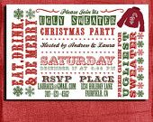 Holiday/Christmas Ugly Sweater Party  Invitation
