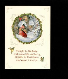 Vintage Susan Wheeler Holly Pond Hill Beautiful Mini Christmas Card | eBay