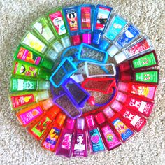 Bath and Body Works hand sanitizers. I love these and the carriers they sell for them. I take one everywhere and they smell so good!