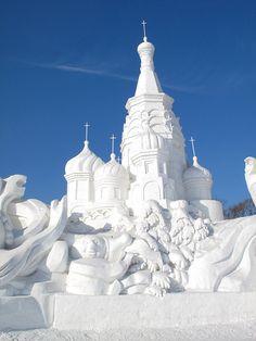 Sun Island International Snow Sculpture Show  via Flickr.