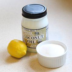 Lemon: Superfood for Your Skin -- DIY lemon sugar scrub!!!  Lemon, sugar, coconut or olive oil!!