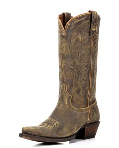 In Eight Second Angel's Dakota Boot, we've stitched a rustic eagle on honey leather for loads of down-home appeal. Charcoaling gives the entire boot its edgy finish, while letting the rich honey tones shine through.
