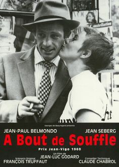 "Breathless (French: À bout de souffle; literally ""at breath's end"") is a 1960 French film directed by Jean-Luc Godard, and Godard's first feature film"