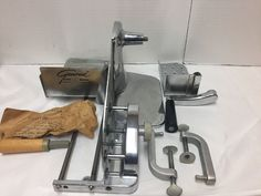 Vintage General Slicing Machine Meat Cheese Slicer Manual Crank Stainless Steel #General