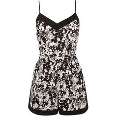 OASIS Shadow Floral Cami Playsuit (€15) ❤ liked on Polyvore featuring jumpsuits, rompers, dresses, jumpsuit, playsuits, multi, floral romper, floral jumpsuit, playsuit romper and floral romper jumpsuit