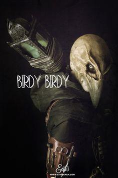 Birdy Birdy project by Ethis Crea Raven Skull mask www.ethiscrea.com
