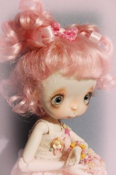 Ppinkys 1/4 bjd 7-8 doll wig super dollfie by Ppinkys on Etsy