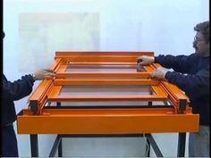 Instalacion de techo movil con cerramiento - YouTube