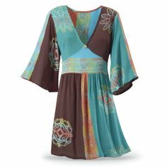Pacifique Batik Dress - New Age, Spiritual Gifts, Yoga, Wicca, Gothic, Reiki, Celtic, Crystal, Tarot at Pyramid Collection