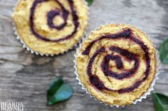 Blackberry Swirl Cornbread {Beard andBonnet} #glutenfree #vegan