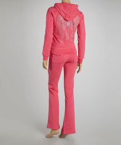 Take a look at this Pink Wing Cross Hoodie & Lounge Pants Set by Sweet Girl on #zulily today!