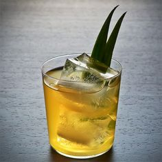Ginger Smash: Combining three spirits with fresh pineapple, squeezed lime juice and ginger creates a delicious summertime tipple.