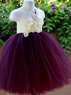 Infant/toddler tutu dress by KMJElegantCreations on Etsy, $40.00 Flower girl?