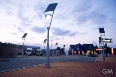 実用性とデザイン性を持つソーラーバッテリーの街灯