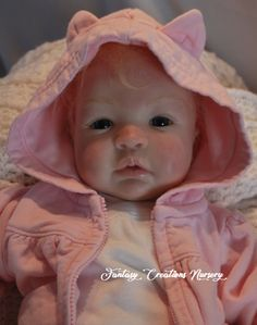 """Reborn Babies for Sale, Reborn Babies, Reborn Dolls.  This is Shyann. She is 19"""" with a soft body and baby soft vinyl, 3/4 arms and 3/4 legs.  Wears newborn size and 0 shoes."""