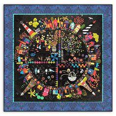 New! Round the Garden Customized Quilt Kit! Linen & Wool Felt ...