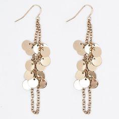 Golden Disk Earrings