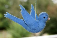 FELT BLUE BIRD Ready to ship for your Spring Nature Table Eco Friendly Toy on Etsy, $15.00 AUD