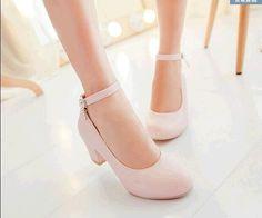 2015 mujeres del resorte zapatos más el tamaño 39-42 solo zapato fiesta chica dulce zapatos bajos del talón grueso del color del caramelo de trabajo de la correa