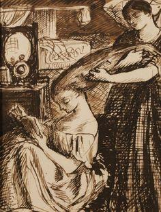 pintura de Dante Gabriel Rossetti.
