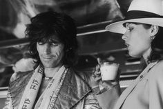 Keith Richards and Uschi Obermaier