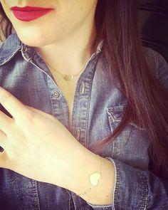 Parure costituita da collana e braccialetto in oro giallo con centrale a forma di cuore! #orogiallo #oro #oridivicenza #cuore #amore #love