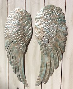 Large Metal Angel Wings wall decor rustic by lilhoneysshoppe, $129.95
