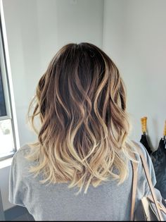 Ombre Balayage Color Melt Blonde Highlights Long Bob Medium Length Hair Cut Beachy Bohemian Waves - Aveda Full Spectrum Color - Salon Dulay Aveda Windermere, Fl http://rnbjunkiex.tumblr.com/post/157431731942/more
