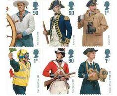 Royal Navy Uniforms GB Stamp Set