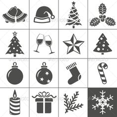 Christmas Icons Set - Simplus Series  #GraphicRiver         Christmas Icons – Simplus series. Each icon is a single object (compound path). Icon Set for your websites, blogs or applications. This is a vector illustration. You can be scaled this image to any size without loss of resolution.  Icon set for your websites, blogs or applications. Zip file contains fully editable EPS8, AI, hi-resolution JPG.   Zip file contains:     Simplus Icon Sets Collection:    -  AI  -  EPS8  -  Hi Res JPG…