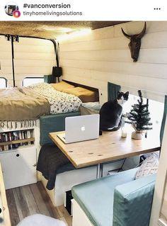 Camping Near Asheville Nc Product - Van Life Caravan Makeover, Caravan Renovation, Van Living, Tiny House Living, Kombi Home, Van Home, Camper Van Conversion Diy, Campervan Interior, Camper Life