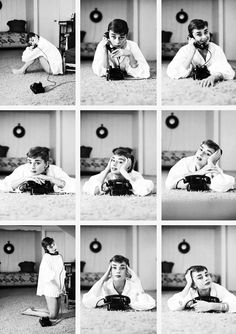 Audrey Hepburn and the phone by photographer Mark Shaw, 1953 Aubrey Hepburn, Audrey Hepburn Photos, Audrey Hepburn Style, Audrey Hepburn Wallpaper, Victoria Tornegren, Poses References, Jolie Photo, Mode Vintage, Oeuvre D'art