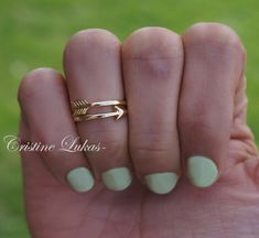 Celebrity Style Midi Ring  Double Wrap Arrow Ring by CristineLukas